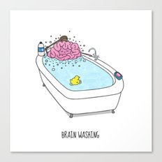 Brain Washing! Canvas Print