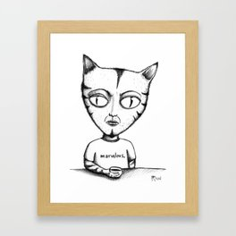 Marvelous Cat Framed Art Print