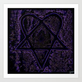 Nightmare Heartagram Art Print