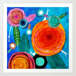 Glück kann man trainieren - Rupy de Tequila ultimative Farben 2018 Art Print