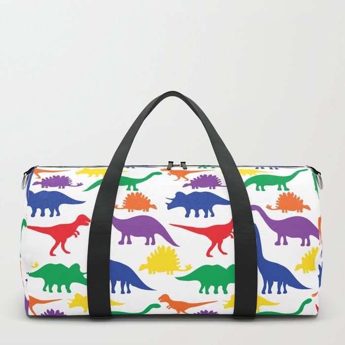 Dinosaurs - White Duffle Bag