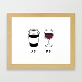 Coffee and Wine Framed Art Print