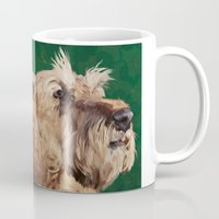 irish Mugs featuring Irish terrier by Carl Conway