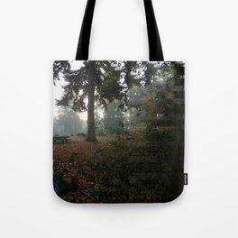 Divided In Fall (There Are No Picnics Here) Tote Bag