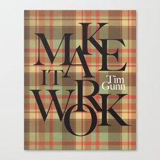 Make It Work Plaid Canvas Print