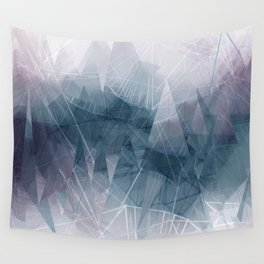 Ameythist Crystal Inspired Modern Abstract Wall Tapestry
