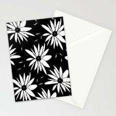 Modern chic floral black and white daisy pattern Stationery Cards