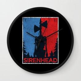 Vote for Siren Head campaing vintage meme Wall Clock