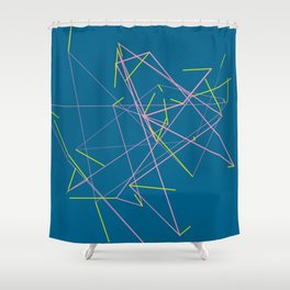 connect trace 05 Shower Curtain