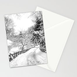 Central Park Winter Path in Shakespeare Garden Stationery Cards