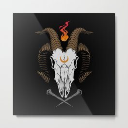 Occult Goat Metal Print
