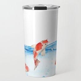 Happy koi fish- fishes sea water lake Travel Mug