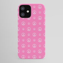 Peace and love 5 - pink iPhone Case