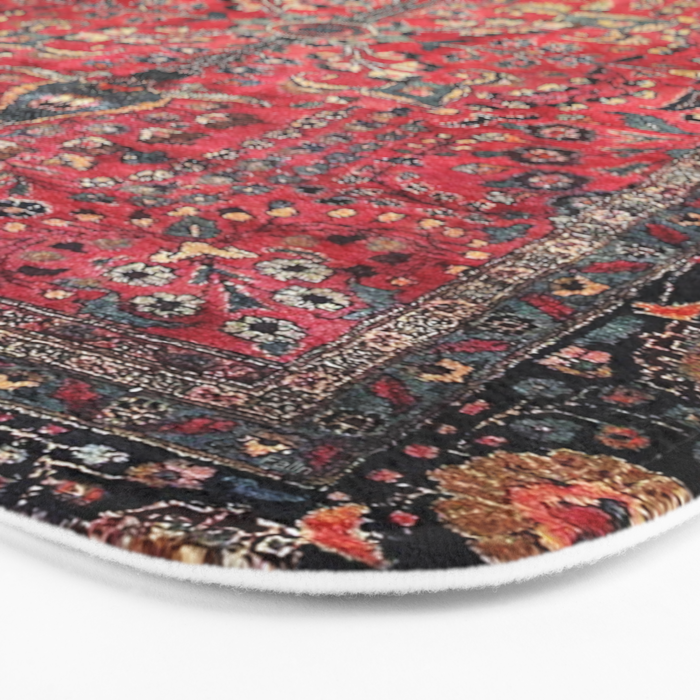 Antique Persian Red Rug Badematte