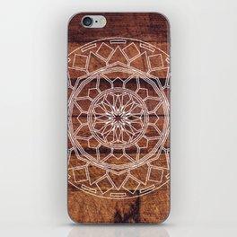 Rustic Wooden Mandala iPhone Skin