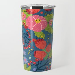 Color Flowers Travel Mug