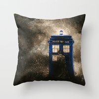 dr who Throw Pillows featuring Dr. Who by Redeemed Ink by - Kagan Masters