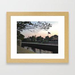 Across State Lines.  Framed Art Print