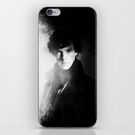 AMAZING SHERLOCK - BLACK & WHITE iPhone Skin