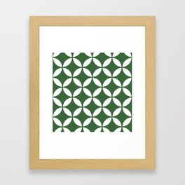 Palm Springs Screen: Kelly Green Framed Art Print