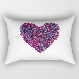 Frozen Berries heart Rectangular Pillow