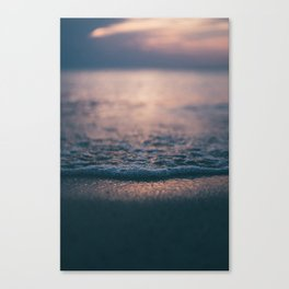 Beach Waves Detail Canvas Print
