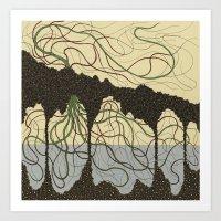 hawaiian Art Prints featuring first hawaiian by thefleafarm (Amy Wright)