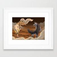 battlefield Framed Art Prints featuring Battlefield by Strawberryhelmet