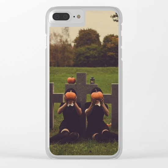 halloween graves Clear iPhone Case