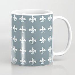 Aqua fleur de lis Coffee Mug