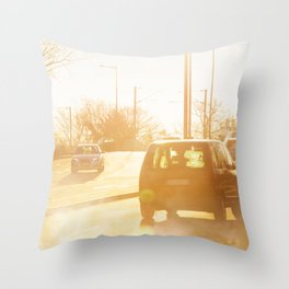 Vehicle gas exhaust Throw Pillow