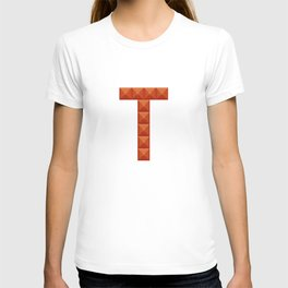 """Letter """"T"""" print in beautiful design Fashion Modern Style T-shirt"""