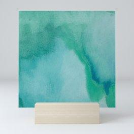 Shades of Green Watercolor Mini Art Print