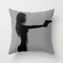Girls love guns Throw Pillow