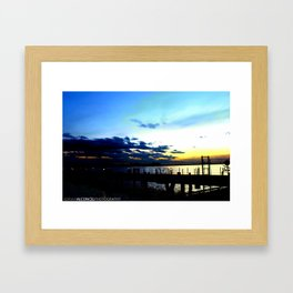 Light vs. Dark Framed Art Print