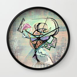 another head going grazzzyyyy by PASTEL Wall Clock