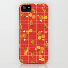 Dancing Drumstick with Rabbit Face No.2 iPhone Case