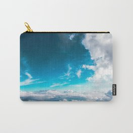 Blue sky fluffy clouds beautiful horizon above clouds Carry-All Pouch