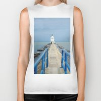 lighthouse Biker Tanks featuring Lighthouse by MelissaLaDouxPhoto