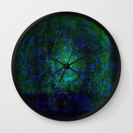 Abstract blue and green Wall Clock