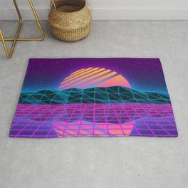 Vaporwave Sunset Rug