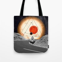 alone Tote Bags featuring Alone by Cs025