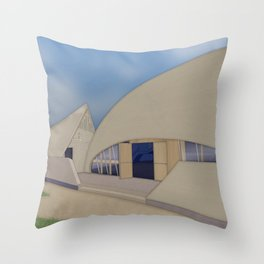 Building Of The Future From A Forgotten Past Throw Pillow