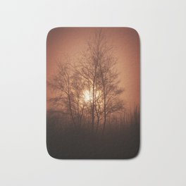 Sunset Behind Grove Of Trees Bath Mat