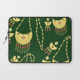Traditional jewelery green Laptop Sleeve