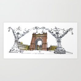 Arc de Triomf de Barcelona Art Print