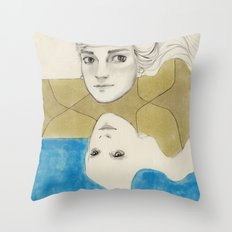 Earth Water and Wind! Throw Pillow