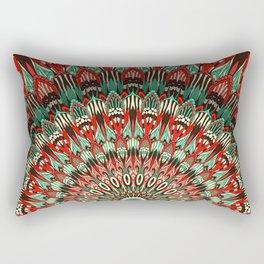 Ethnic mandala Retro colors Rectangular Pillow