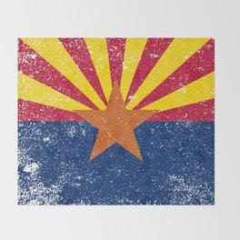 Arizona State Flag Grunge Throw Blanket