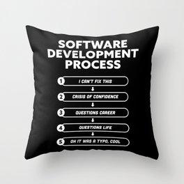 Software Development Process Funny Gift Throw Pillow